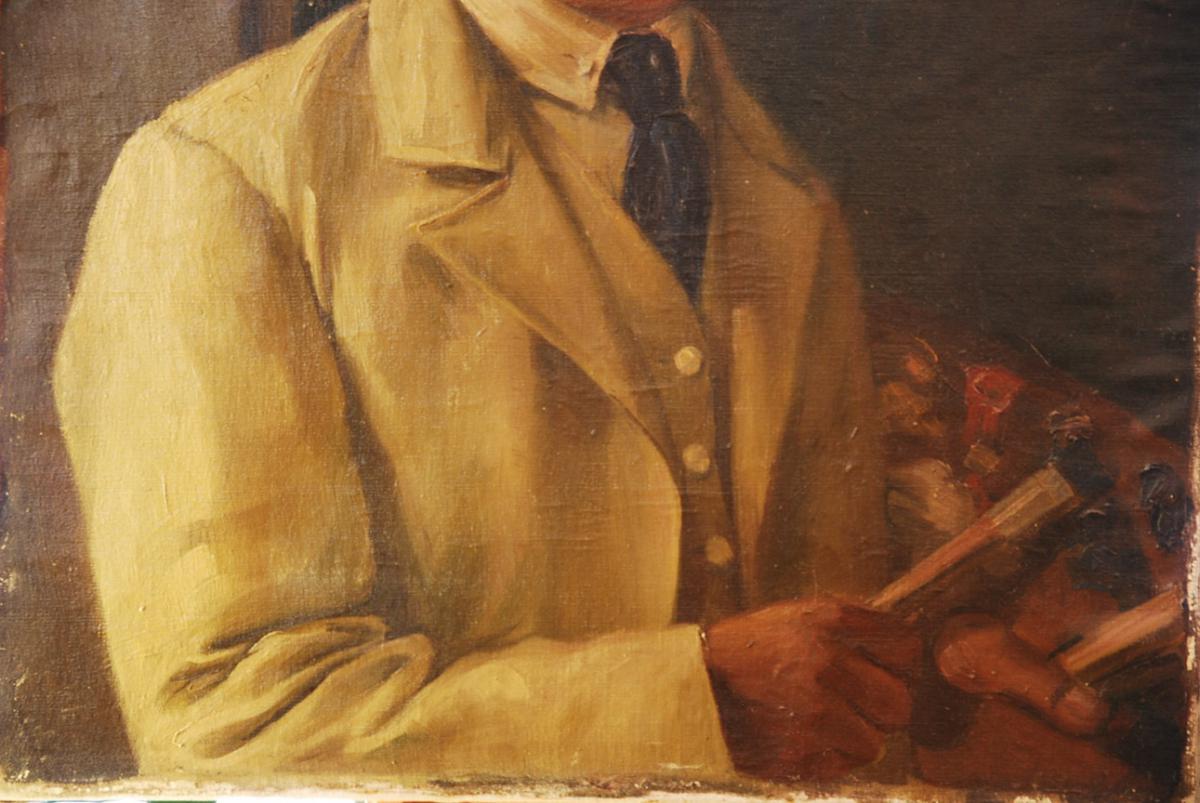 Self-portrait Of 19th Century German Painter-photo-3