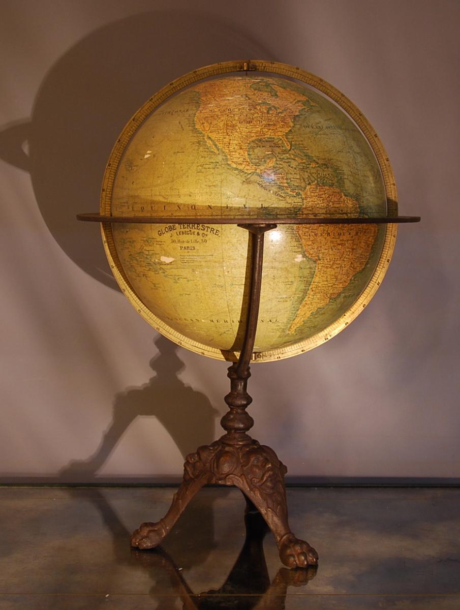 World Globe Globe J Lebegue Et Cie