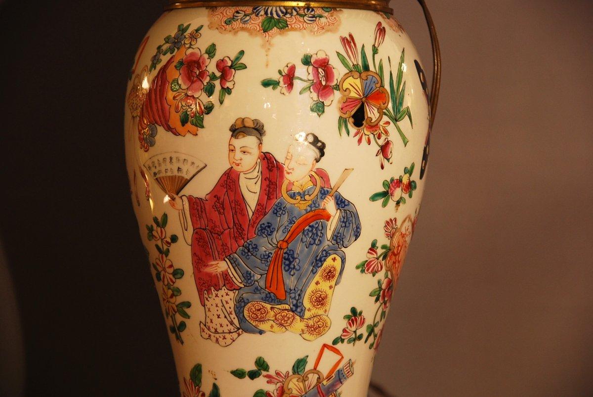 Chinese Couple Vase Lamp-photo-1