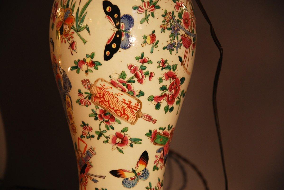 Chinese Couple Vase Lamp-photo-2