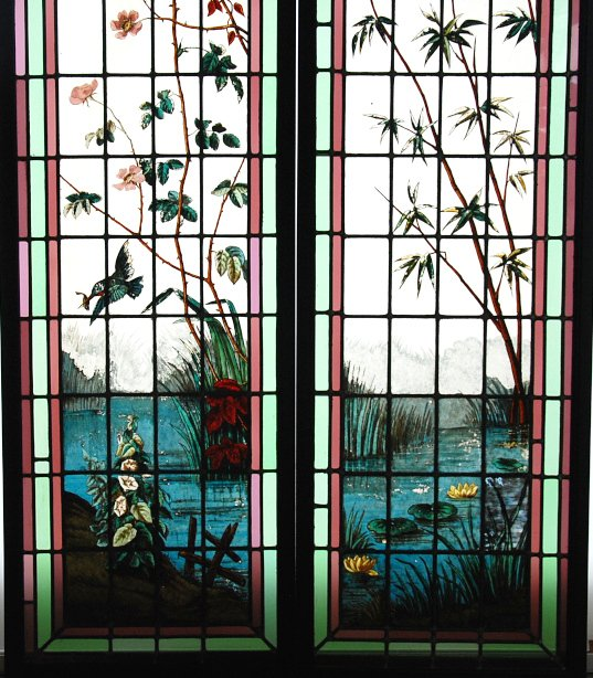 Stained Glass Roses And Bamboos-photo-2