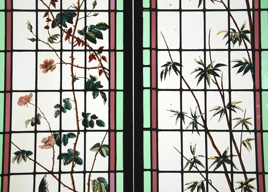 Stained Glass Roses And Bamboos-photo-3