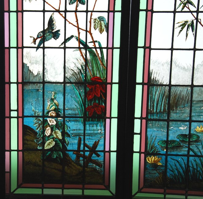 Stained Glass Roses And Bamboos-photo-4