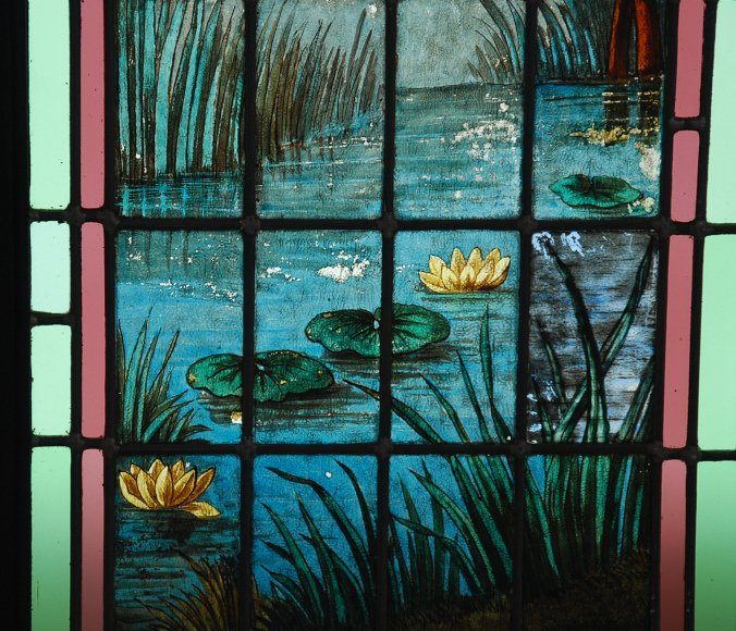 Stained Glass Roses And Bamboos-photo-1