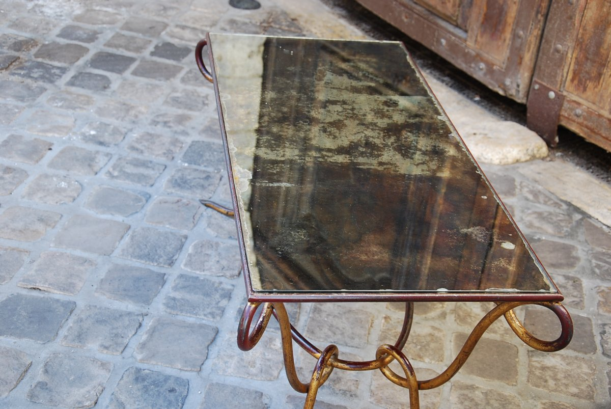 Coffee Table Attributed To René Prou-photo-1
