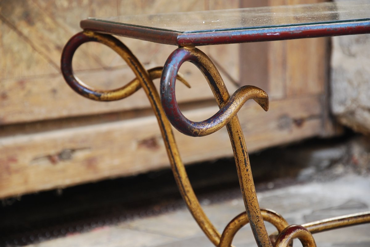 Coffee Table Attributed To René Prou-photo-4