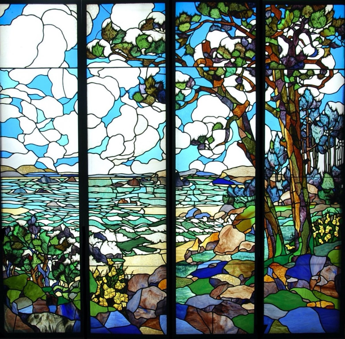 Stained Glass Stained Glass Bord De Mer Henri Rapin