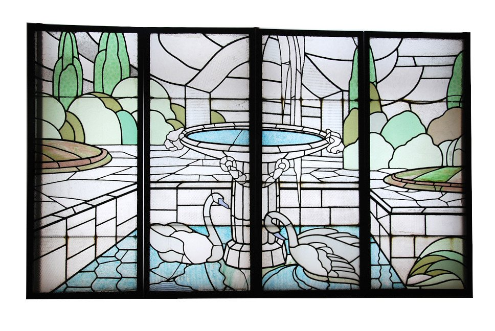 Stained Glass Art Deco De Largillier V118