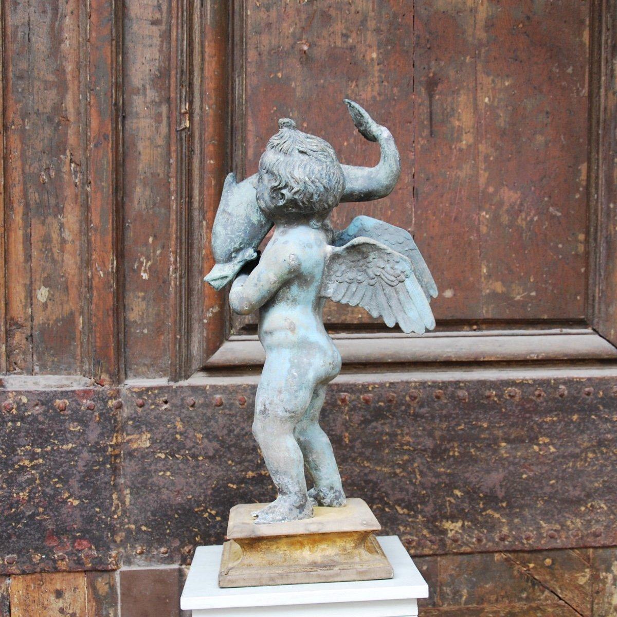 Sculpture En Bronze Au Dauphin Du Grand Tour-photo-4