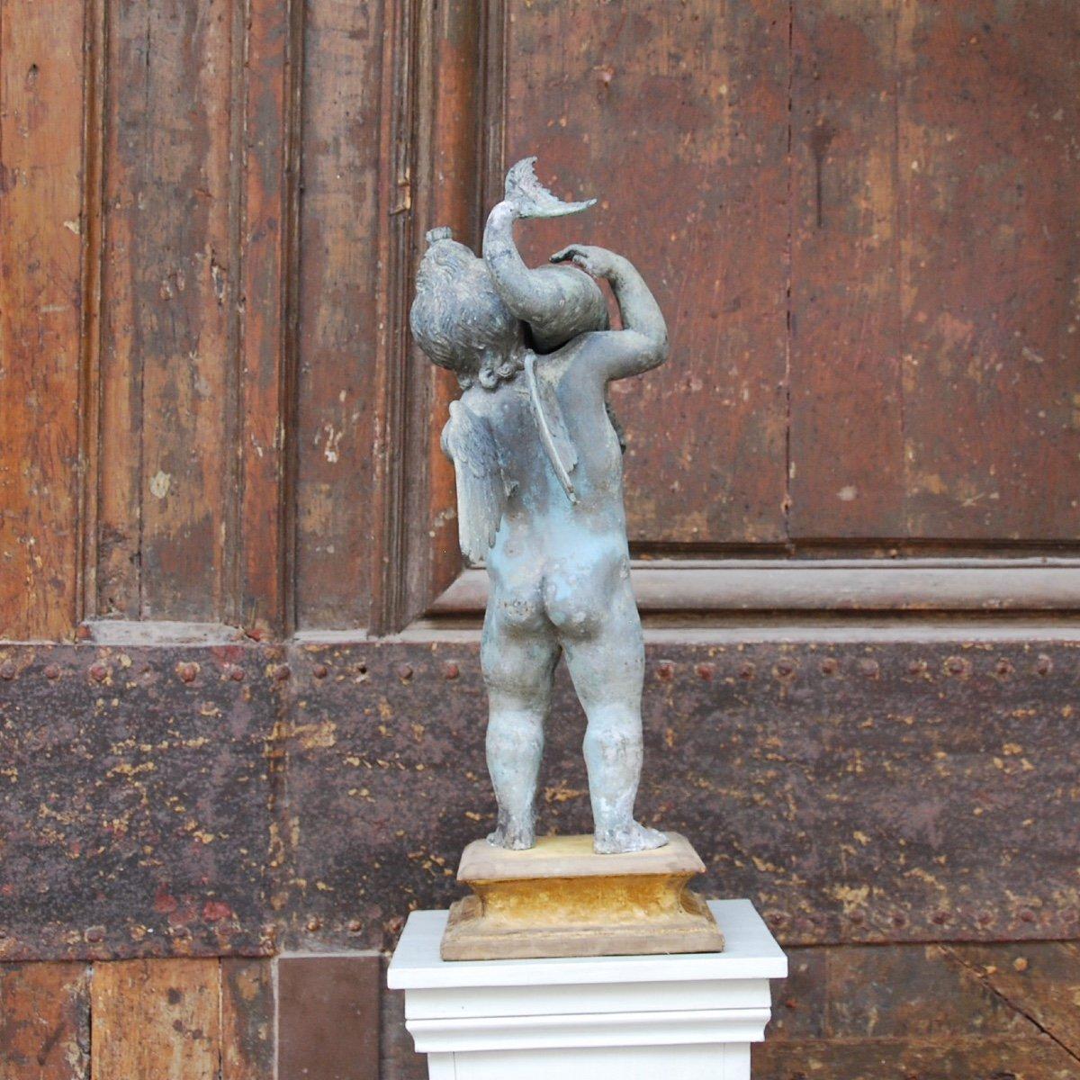 Sculpture En Bronze Au Dauphin Du Grand Tour-photo-7