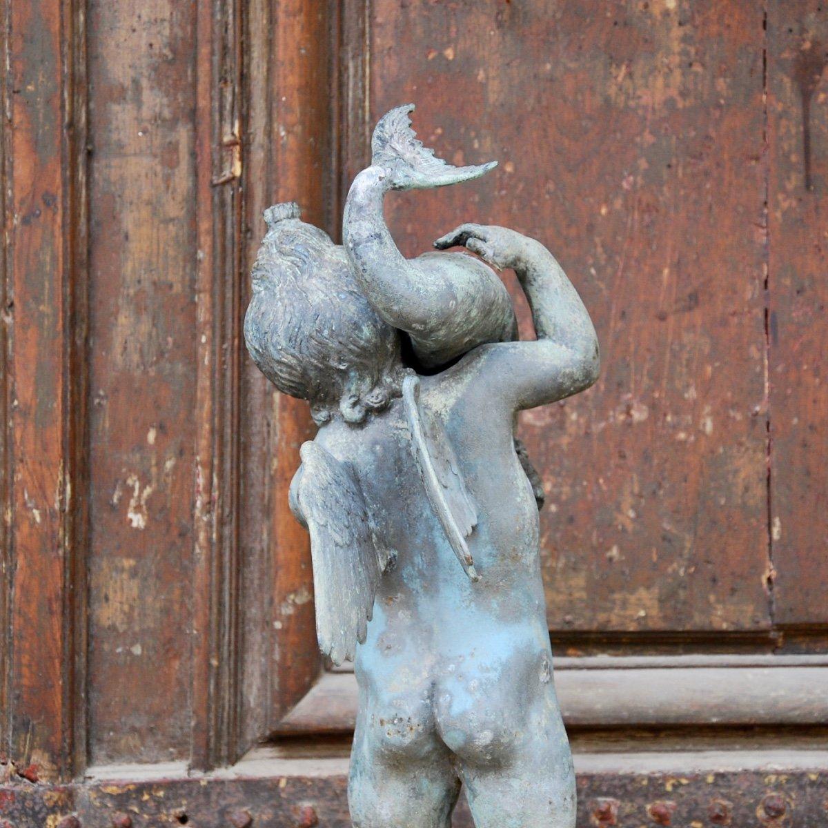 Sculpture En Bronze Au Dauphin Du Grand Tour-photo-8