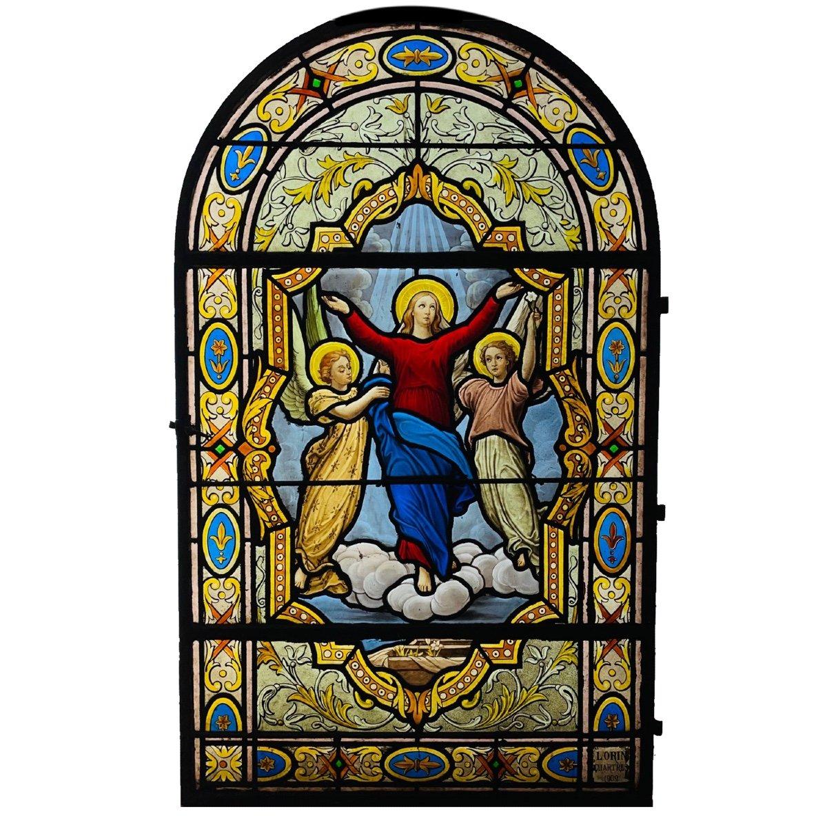 Vitrail Vitraux Assomption De La Vierge