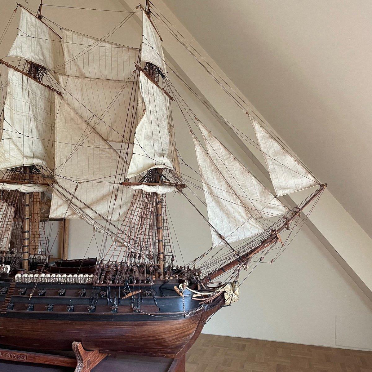 Grande maquette du vaisseau « Le Superbe » (1782-1795)-photo-1