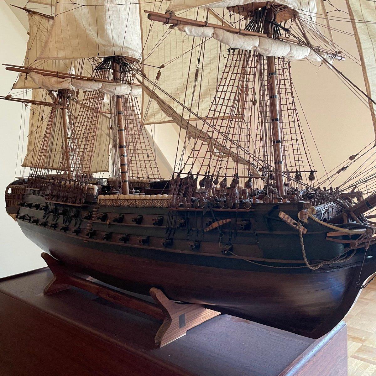 Grande maquette du vaisseau « Le Superbe » (1782-1795)-photo-2