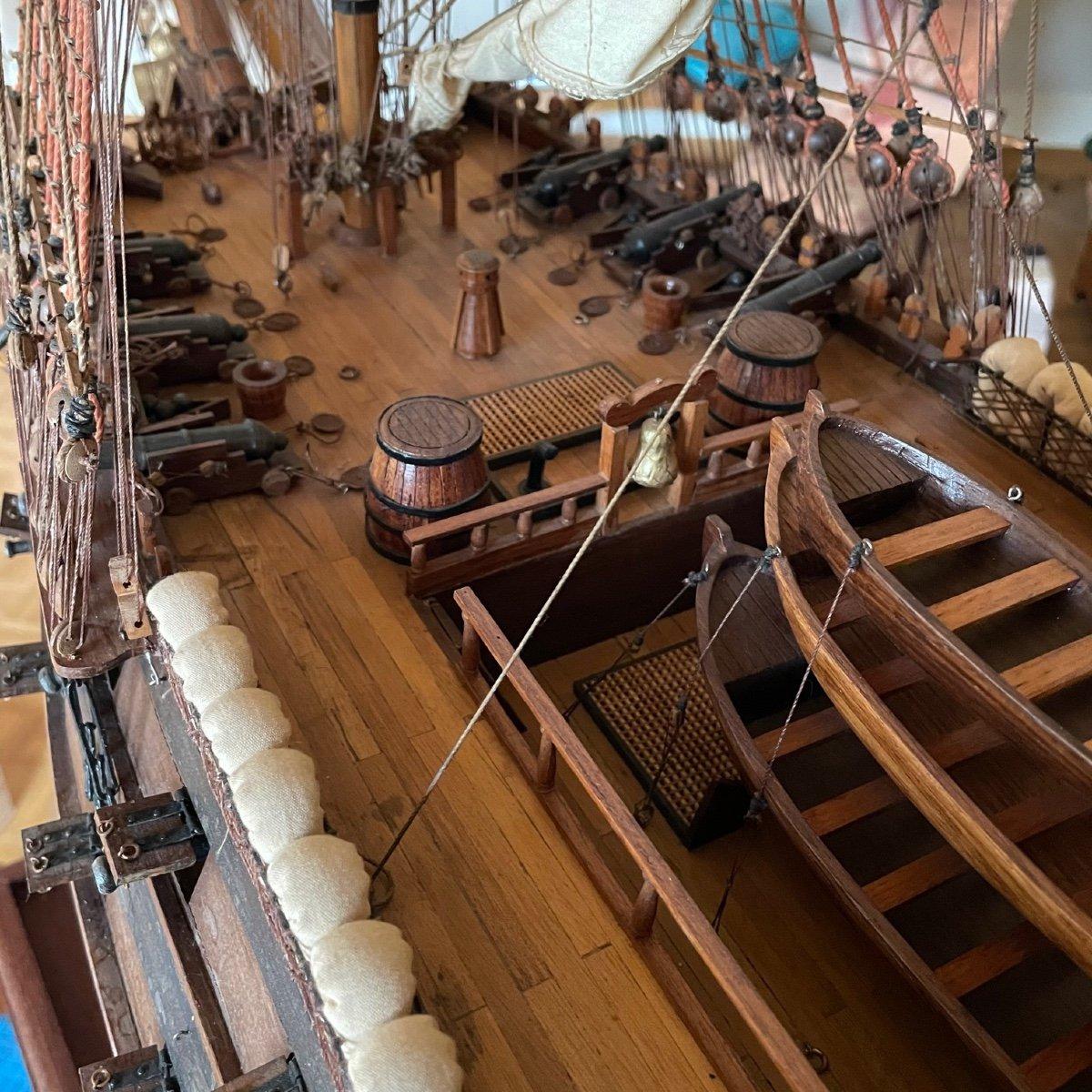 Grande maquette du vaisseau « Le Superbe » (1782-1795)-photo-5