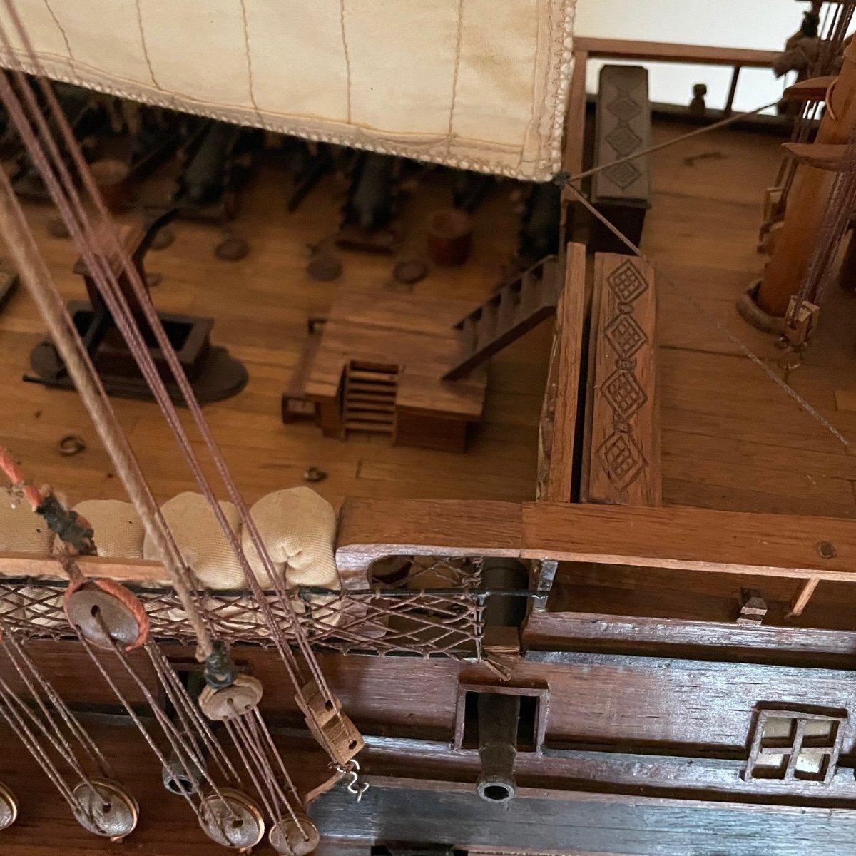 Grande maquette du vaisseau « Le Superbe » (1782-1795)-photo-6