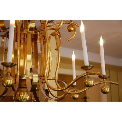 Grand Lustre H160cm à 12 Bras De Lumières