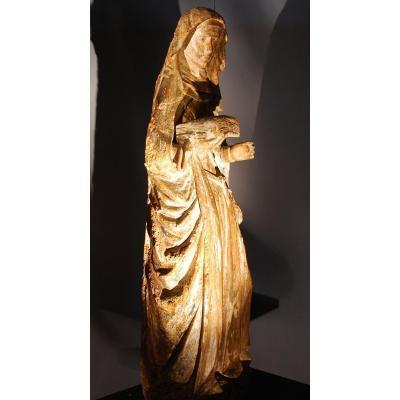 Grande Sainte Anne En Bois Sculpté 16 Ème siècle