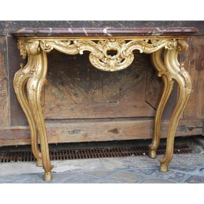 Console Wood Golden 18th