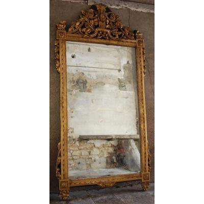 Miroir À Fronton Époque Louis XVI