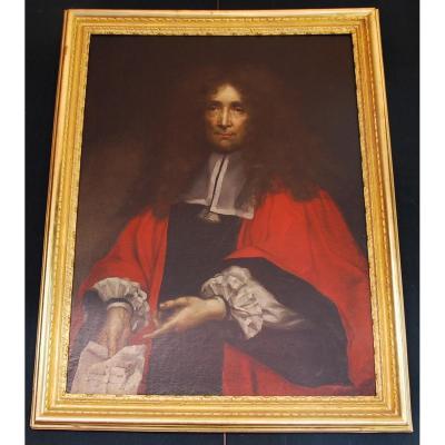 Portrait d'Échevin Époque 17Ème SiÈcle
