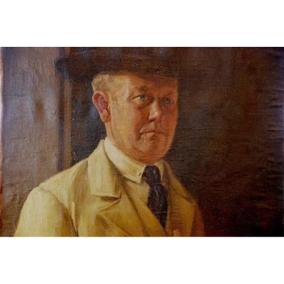 Autoportrait De Peintre 19ème Siècle