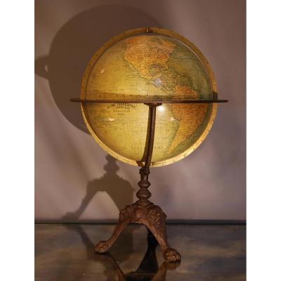 Mappemonde Globe Terrestre J Lebegue Et Cie