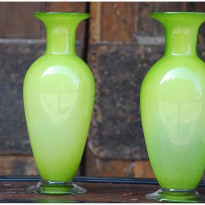 Paire De Vases Murano