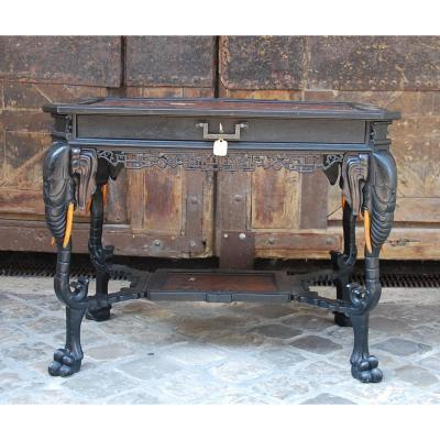 Table With Elephants In The Spirit Of Perret And Vibert