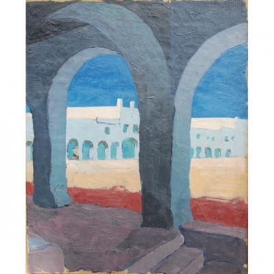 Huile Sur Toile Tableau Oriental José Gers époque 1931