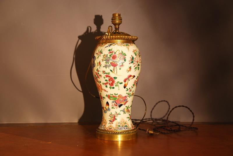 Chinese Couple Vase Lamp-photo-3