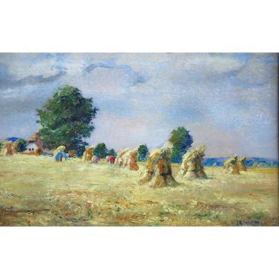 Huile sur Carton de Louis-Edouard Garrido post-impressionisme