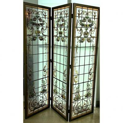 Set Of Stained Glass In Screen Ref V91