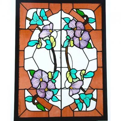 Vitrail Vitraux Clématite Art Nouveau