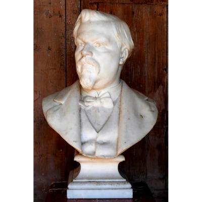 Buste En Marbre D. Puech