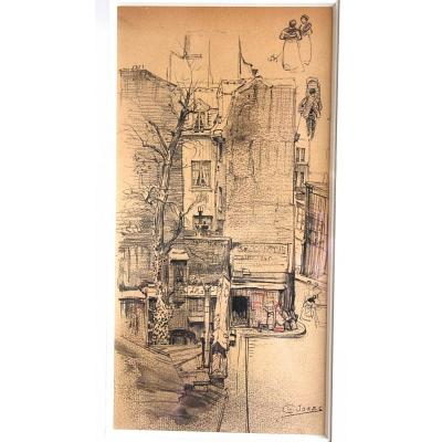 Drawing By Charles Jouas Second-hand Store