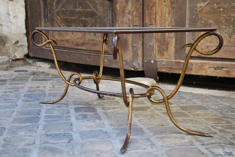 Coffee Table Attributed To René Prou-photo-3