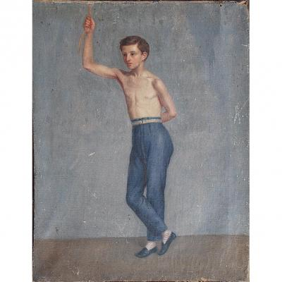 Oil On Canvas Young Gymnast
