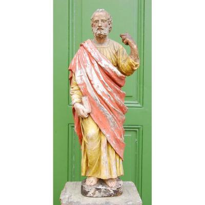 Statue Polychrome XVIIème