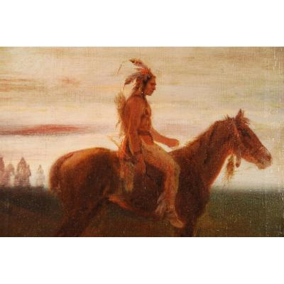 Apache Chief Signed Janet Lange (1815-1872)