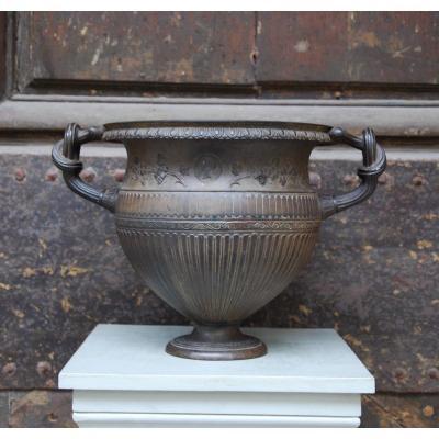 Art Union Of London Neoclassical Cast Iron Vase 1855