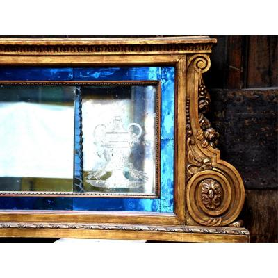Large Horizontal Venetian Mirror