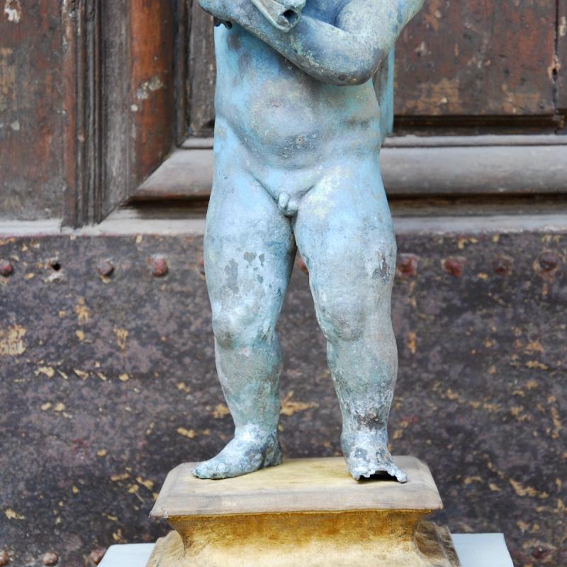 Sculpture En Bronze Au Dauphin Du Grand Tour-photo-3