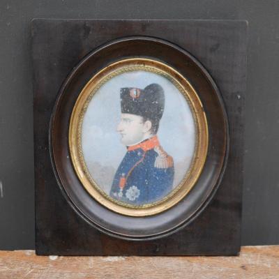 Miniature Sur Ivoire Napoleon 1er