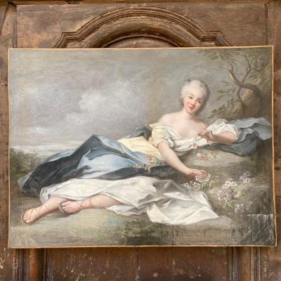 Oil On Canvas Henriette De France Atelier De Nattier