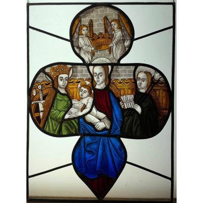 Vitrail Vitraux Vierge à l'Enfant