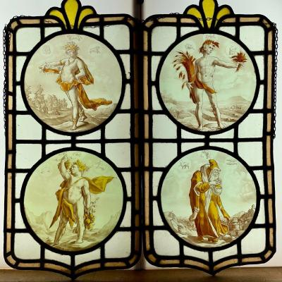 Stained Glass Stained Glass The 4 Seasons And Signs Of The Zodiac