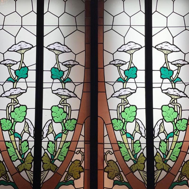 Vitrail Vitraux Suite De 2 Paires Aux Ombelliferes-photo-2