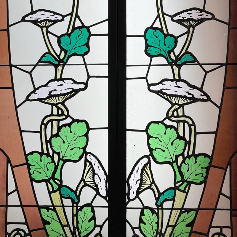 Vitrail Vitraux Suite De 2 Paires Aux Ombelliferes-photo-4