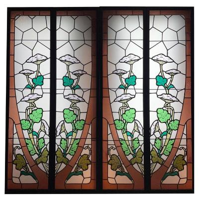 Stained Glass Stained Glass Suite Of 2 Pairs Aux Ombelliferes